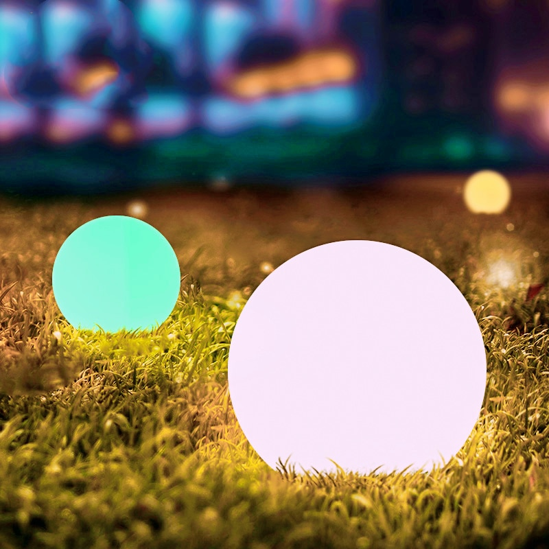 25cm Warm White Waterproof Cordless Solar LED Outdoor Garden Decorative Balls Lights with Rechargeable Battery for Lawn Patio