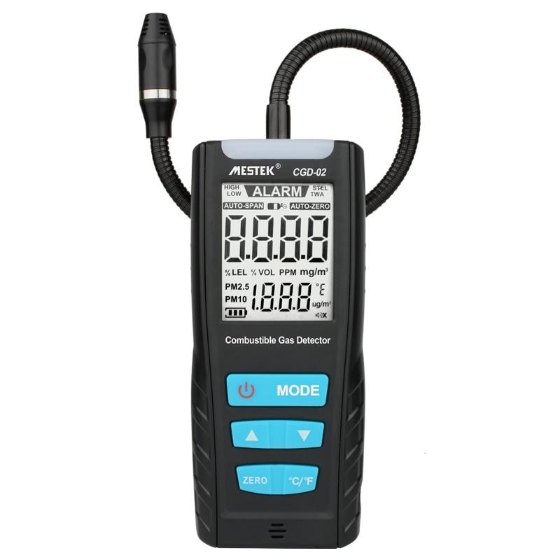 LCD, analizador de Gas, medidor de Combustible Detector Sensor de Gas Monitor de calidad del aire de Detector de fugas de Gas con descarga de sonido de alarma