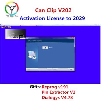 Le plus récent peut clipser v203 Reprog v191 Support multi-langues peut clipser V202 Can-Clip 190 logiciel pour Renault peut clipser Canchip V202
