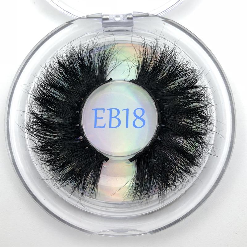 Cruelty free 25mm real mink false eye lash extra length 3D mink fur eyelashes makeup tools