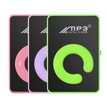 No Screen Metal Mini Clip MP3 Player Sports With Micro TF/SD Slot With Earphone And USB Cable Portab