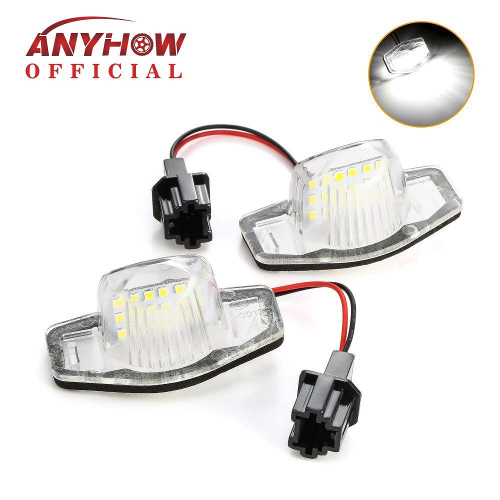 2 sztuk/zestaw 18 LED numer lampy oświetlenie tablicy rejestracyjnej Canbus dla Honda Jazz Odyssey Stream Insight CRV FRV HR-V Crosstour 5D DXY