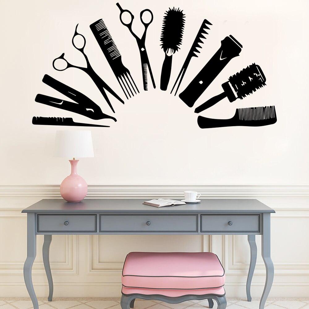 Pegatinas de pared para salón creativas para el cabello para decoración salón...