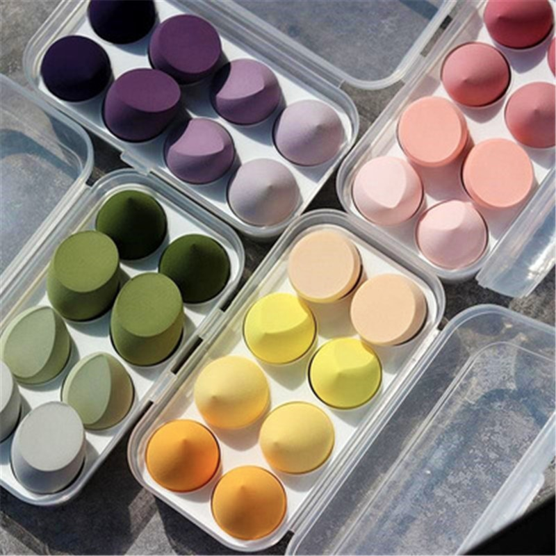 8-Piece Makeup Puff Powder Puff Powder Cotton Sponge Giant Soft Wet Dry Dual-Use Easy To Apply Makeup Beautiful Cosmetic Tool
