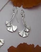 boho earrings vintage tribal earrings ginkgo earrings geometric earrings gingko leafearrings dangle drop earrings plant earrings