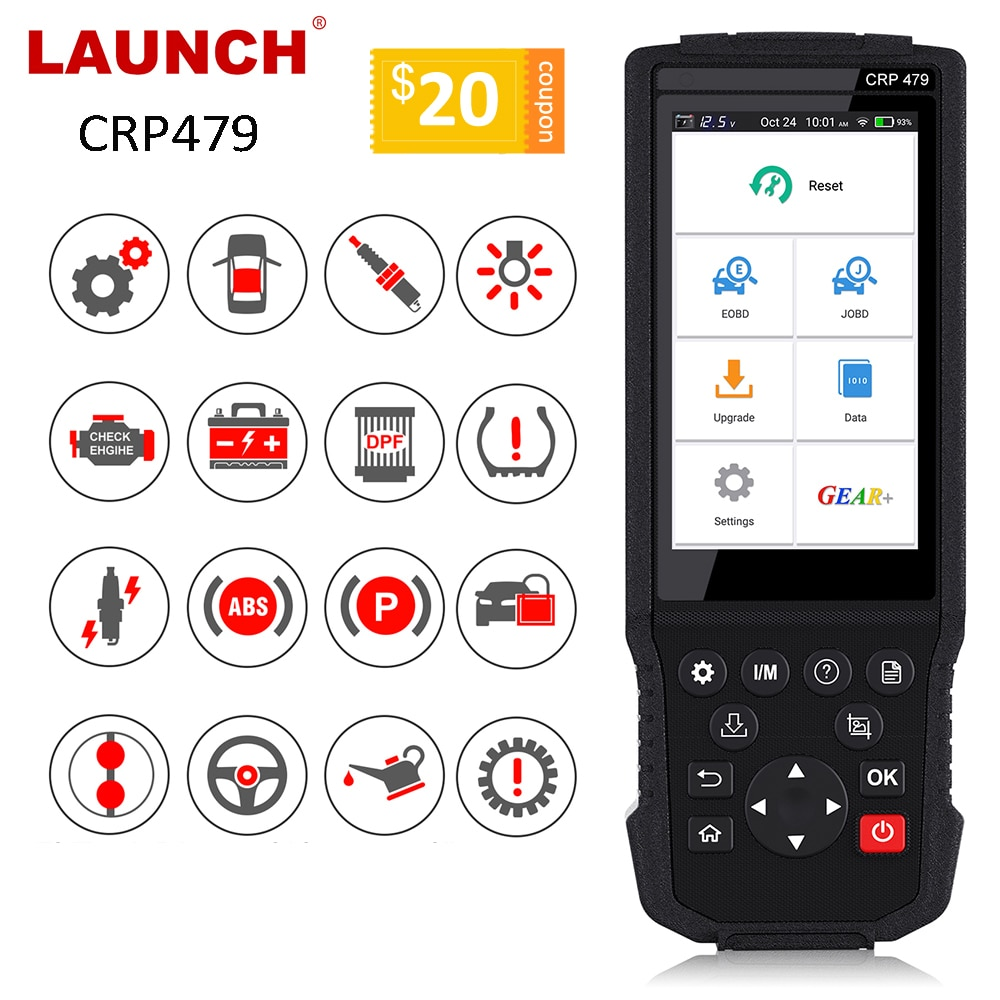 LAUNCH X431 CRP479 OBD2 Scanner JOBD Auto Scanner ABS TPMS DPF IMMO Schlüssel EPB Öl Reset Auto diagnose Werkzeug OBD2 STARTEN X431 WIFI