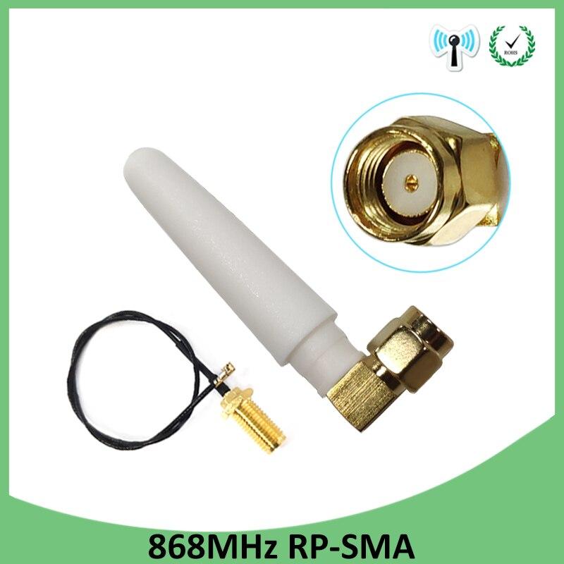 10pcs 868MHz 915MHz Antenna 3dbi RP-SMA Connector GSM 915 MHz 868 MHz antena antenne +21cm SMA Male /u.FL Pigtail Cable