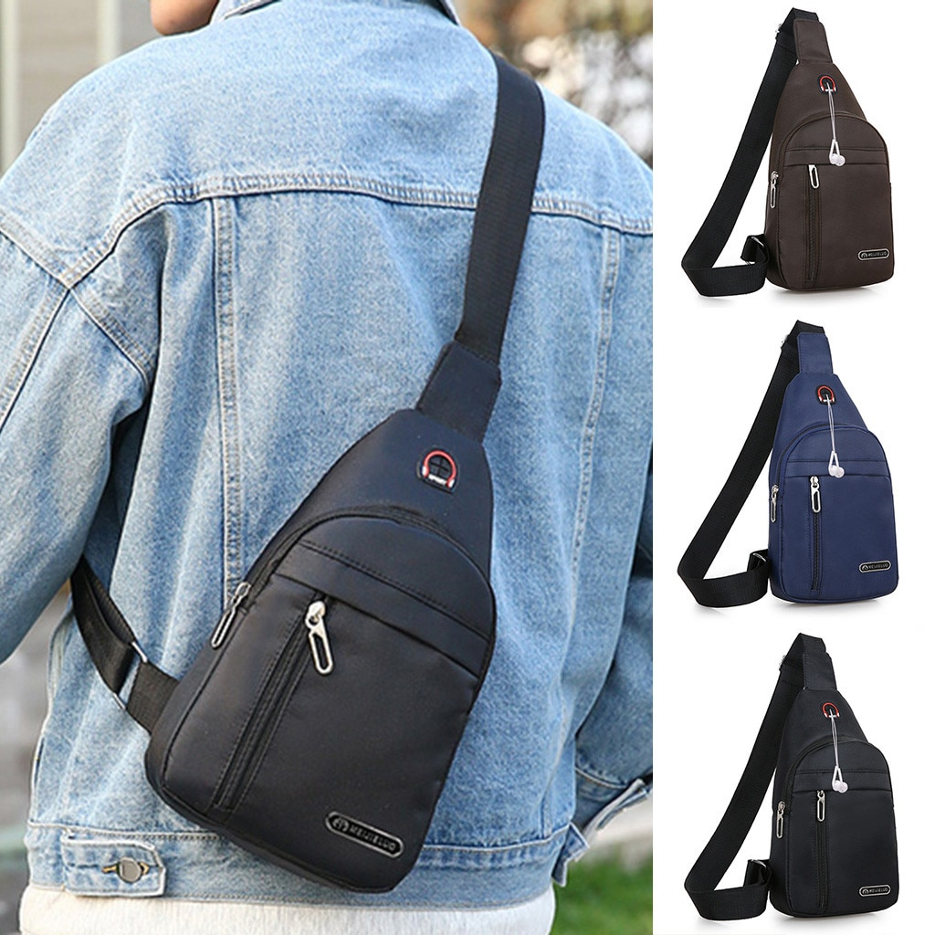 Invierno 2020 hombres moda Casual Chest Bag mensajero bandolera bolso único debe bolsos Dropshipping ins estilo red rojo p