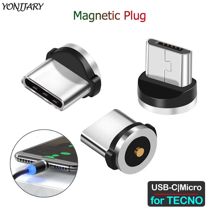 Круглый Магнитный Кабель-адаптер для TECNO Phantom 8 6 Pouvoir 1 Spark 2 3 4 Camon CX CM 11 12 15 Air Plus Pro Micro USB Type C Plug