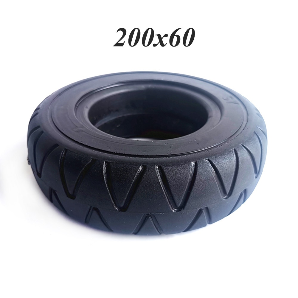 Neumático de moto eléctrica 200x60, neumático sólido 200x60, sin tubo, grueso, a prueba de perforaciones, piezas de neumáticos