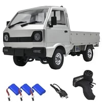 wpl d12 110 2wd rc car simulation drift truck brushed 260 motor climbing car led light on road rc car toys for boys kids gifts