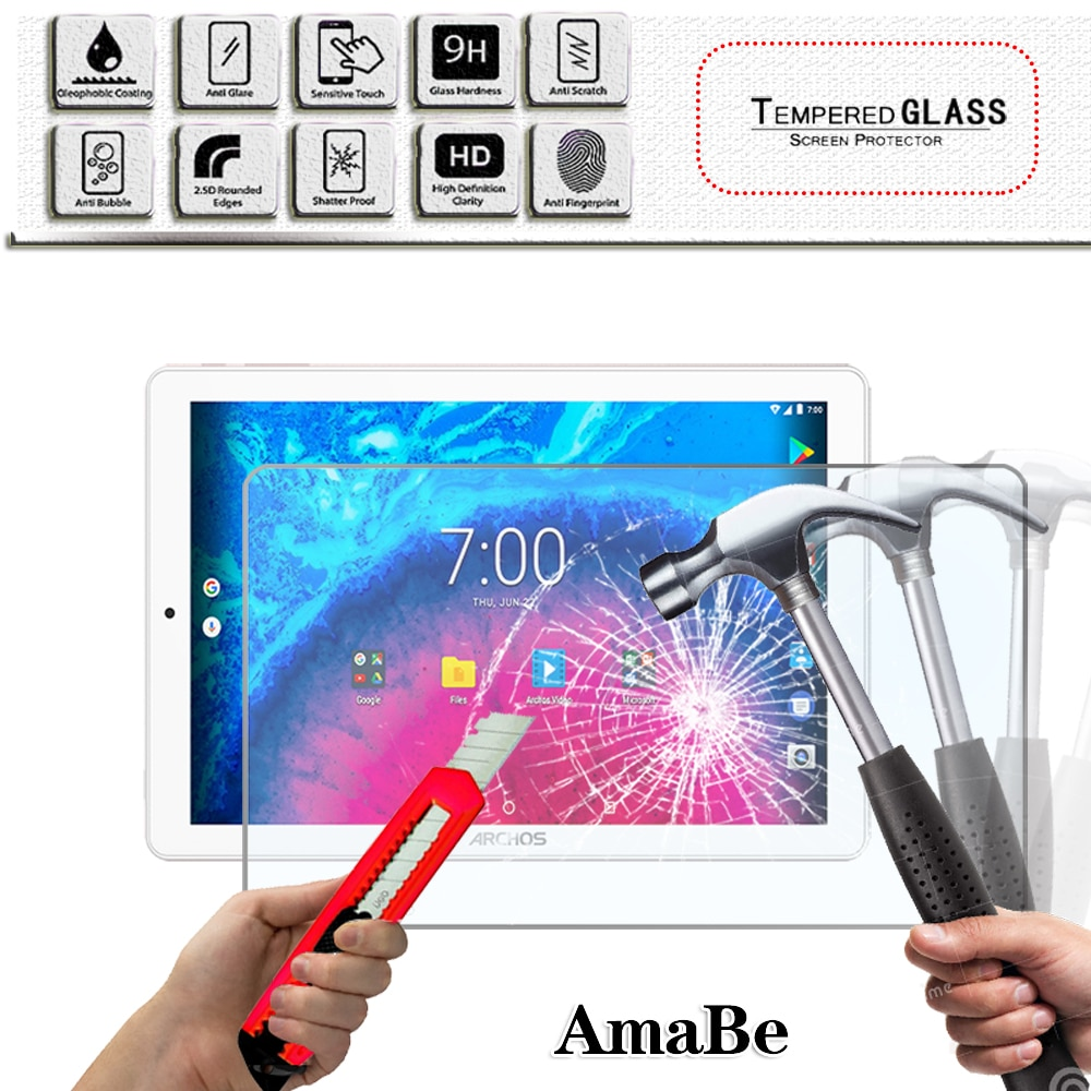 Scratch Proof Tempered Glass  Screen Protector for ARCHOS 101d Neon/101f Neon/Core 101 3G/V2 Tablet Protective Film Glass Guard hot in stock archos 50e neon case 6 colors luxury ultra thin leather exclusive for archos 50e neon phone cover tracking