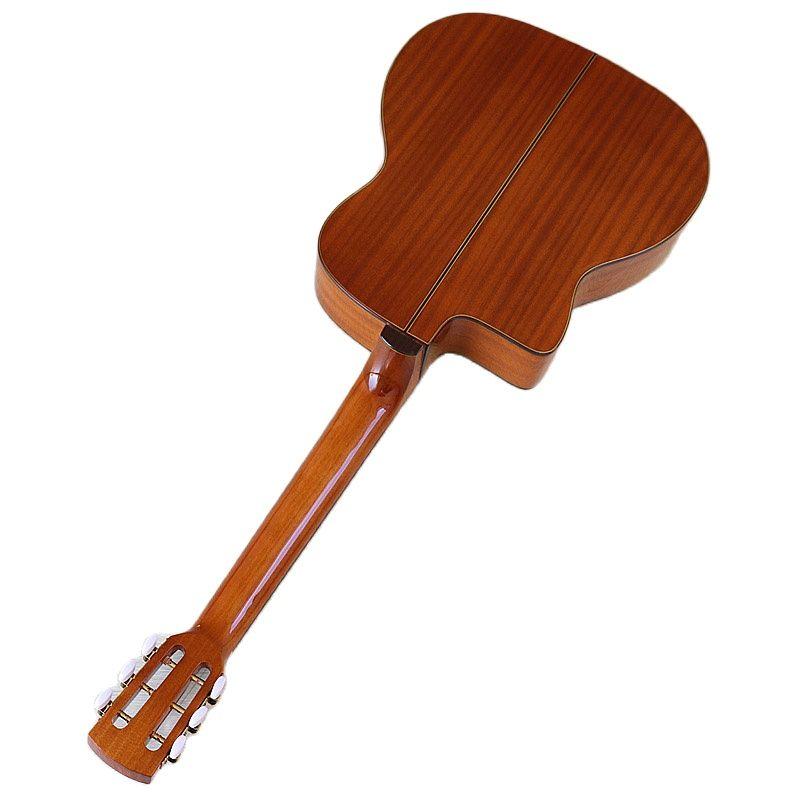 Solid Red Cedar Wood Top Django Acoustic Guitar Jango Guitar 41 Inch Glossy Orange 6 Strings 4.8cm Upper Nut with Classic Head enlarge