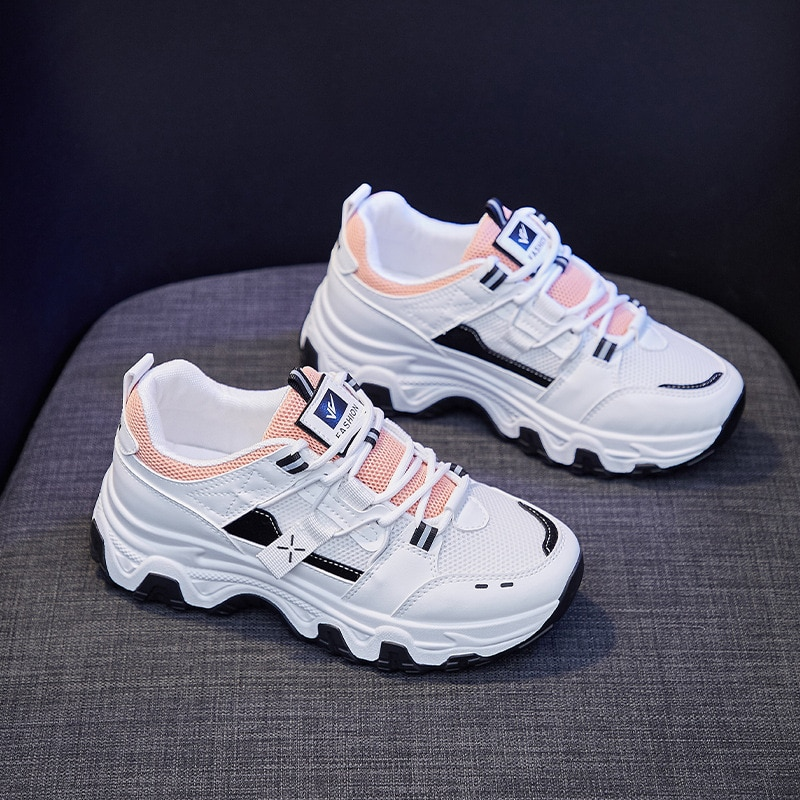 Women's Shoes 2021 New Breathable White Platform Sneakers Women Trainers Slip on Vulcanized Shoes Women Trainers Casual Flats  - buy with discount