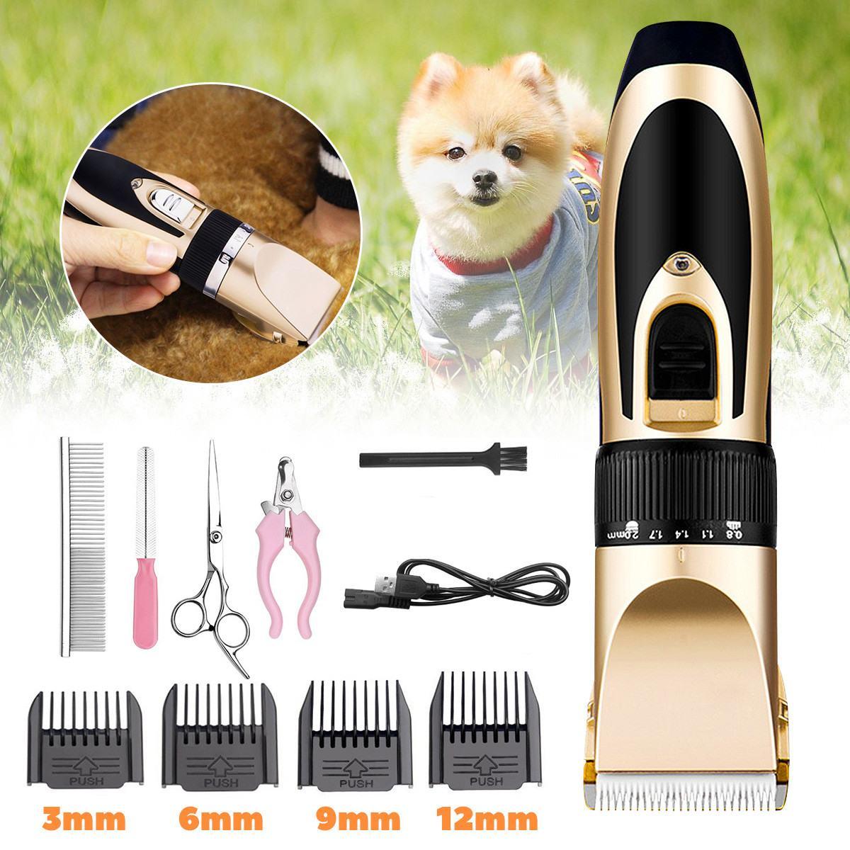 Cortadora profesional de pelo para perros y mascotas, cortadora de pelo para animales, máquina cortadora sin cable, cortadora eléctrica de tijera recargable