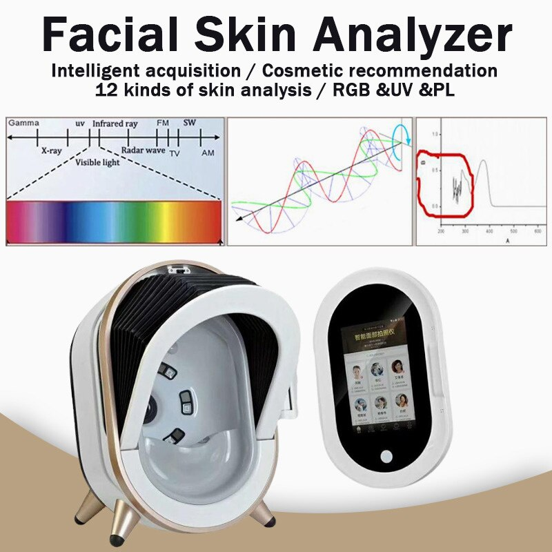 2021 أحدث تكنولوجيا العناية بالبشرة ثلاثية الأبعاد تكشف عن الة فحص الجلد لمركز ماكينة تحليل مشكلات البشرة