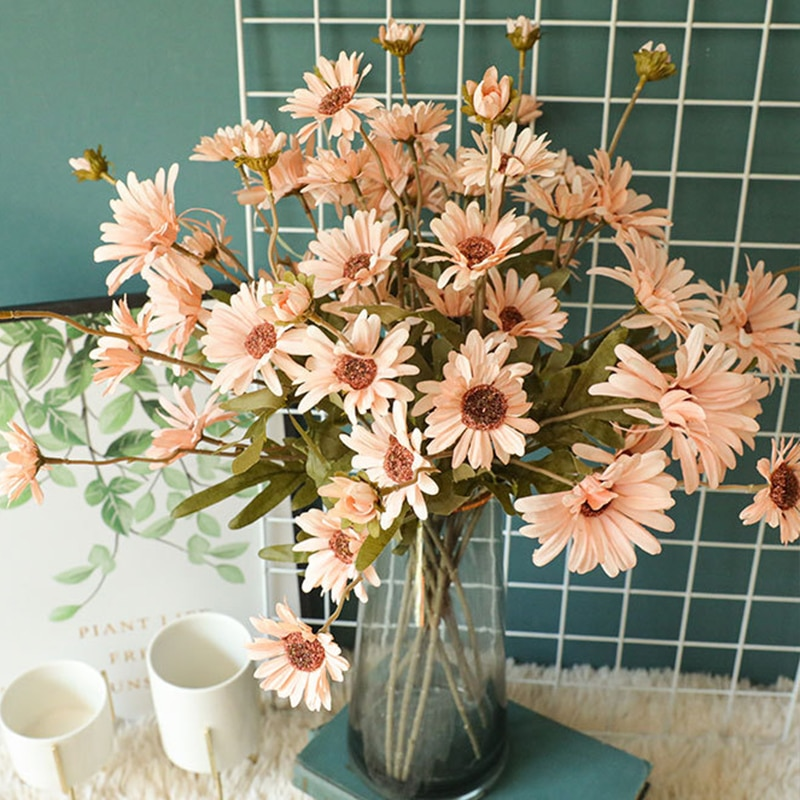 Artificial Wild Chrysanthemum Bunches Small Daisies Holding Flowers Home Living Room Party Wedding Decoration Chrysanthemum
