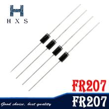 Redresseur Diode FR207   100 pièces 2A 1000V DO-15 FR207