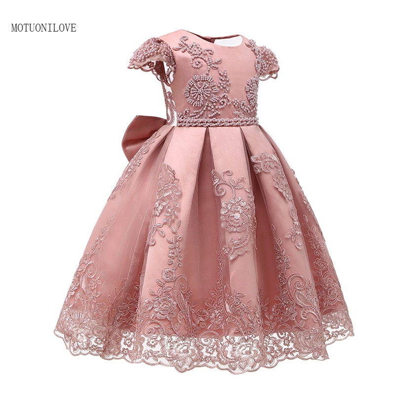 appliques flower girl dresses bow knot v neck kids pageant dress evening for party birthday hollow out princess dress b29 New Kids Evening Gowns Lace Appliques Tea Length Flower Girls Dress Princess Elegant Pageant Dresses For Wedding Birthday Party