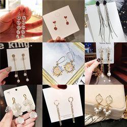 Korean Version of the Temperament Wild Pearl Simple Dongdaemun Earrings Jewelry stainless Steel jewelry Korean earrings