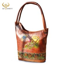 Fashion Real Cow LEATHER Famous Brand Luxury Ladies Large Shopping handbag Shoulder bag Women Design