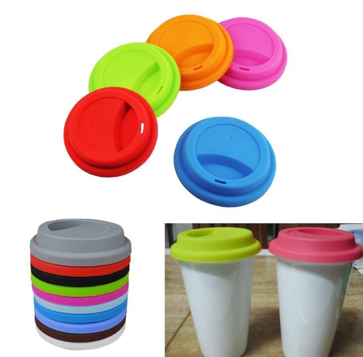 9 سنتيمتر قابلة لإعادة الاستخدام سيليكون القهوة القدح الحليب كأس غطاء زجاجة قبعات للمواد الأخرى أكواب 100 قطعة/الوحدة SN828
