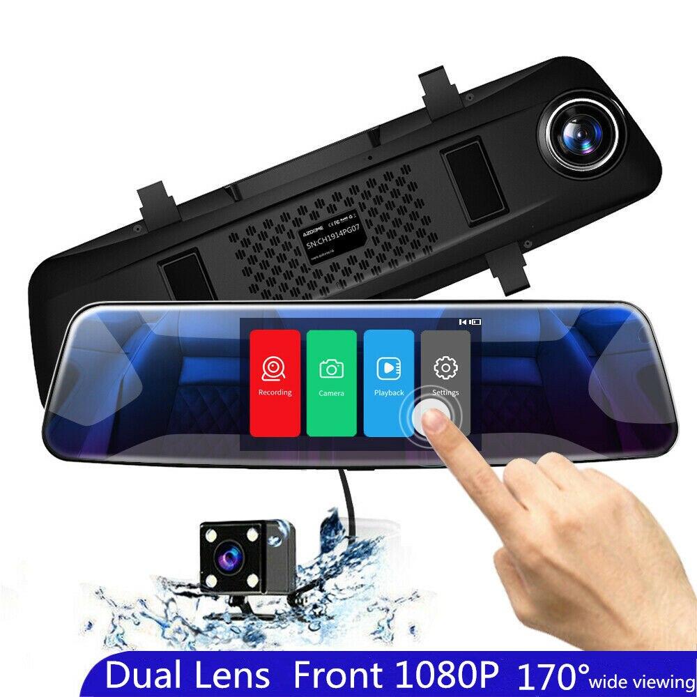 AZDOME PG07 1080p Dash Cam 4,3 Inch Touchscreen Auto DVR Dual Lens Mit Rück Kamera Video Recorder Auto Registrator dvrs