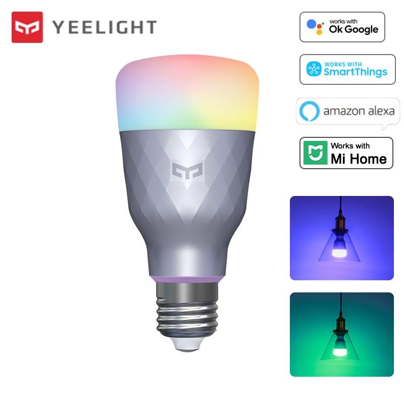Yeelight Smart Led-lampe 1SE Bunte Licht RGBW 110V 220V 6W E27 Dimmbare Lampe App Voice Control arbeit mit Google Mi Hause Alexa