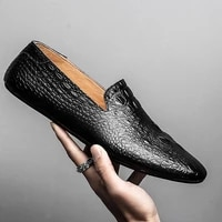 black men loafers shoes luxury genuine leather slip on moccasins casual men shoes fashion loafers mens flats driving shoes 2020