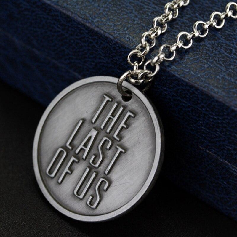 El último de nosotros 2 llavero luciérnaga Logo carta doggtag Joel Ellie Vintage Retro llavero de estaño llavero collar