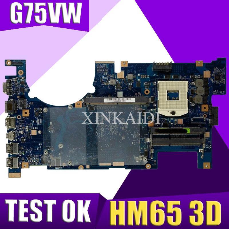 اللوحة الام للابتوب XinKaidi G75VW ل ASUS G75VW G75V G75VX لوحة اختبار الاصلي HM65 ثلاثية الأبعاد