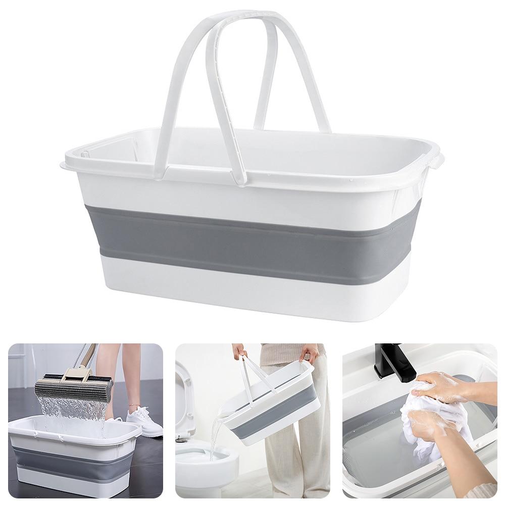 Portable Foldable Bucket Fishing Retractable Basin Camping Car Wash Bucket Collapsible Wash Basin Mop Bucket Home Outdoor Tools