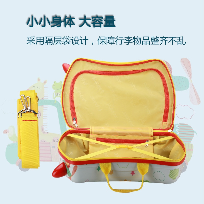 New Mini Kids Luggage Children's Suitcase for Ride on Cartoon Universal Wheel Boarding Riding Suitcase for Kids Gifts enlarge
