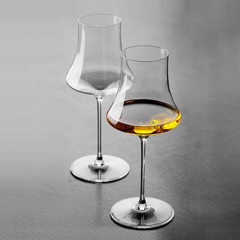 كوب من الزجاج الكريستالي المصنوع يدويًا من ISO 400-450 مللي ، كوب فاخر للشمبانيا والنبيذ الأحمر براندي النبيذ