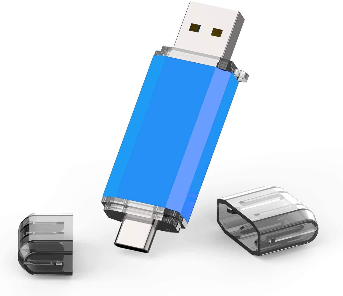 TOPESEL USB 3.0 Type C Dual OTG Flash Drive USB C Thumb Drive Memory Stick for USB-C Smartphones,Tablets & New MacBook