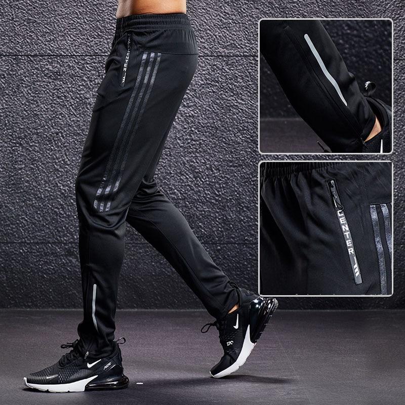 New Sport Pants Men Running Pants With Zipper Pockets Training and Joggings Men Pants Soccer Pants Fitness Pants For Men