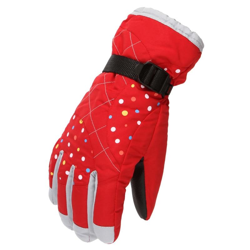 Женские зимние теплые перчатки для езды на мотоцикле, уличные зимние перчатки, бархатные плотные лыжные перчатки, спортивные велосипедные ...
