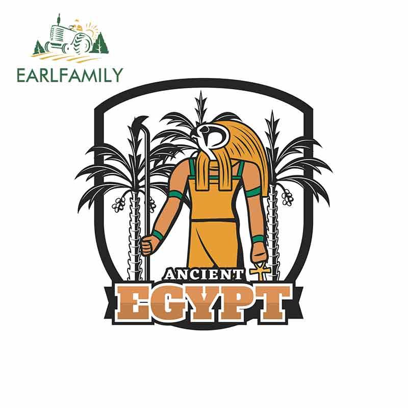 EARLFAMILY 13cm x 12,7 cm para Horus egipcio God pegatinas de coche motocicleta RV VAN 3D accesorios JDM para automóviles vinilo signo de cómic