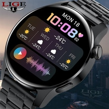 LIGE New Bluetooth Call Smart watch Men Full touch Screen Sports fitness watch Bluetooth is Suitable