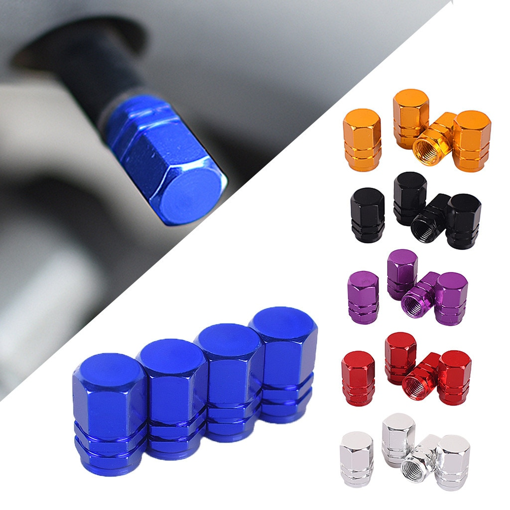 Car Wheel Tire Valve Caps Tyre Rim Covers For Ford Escape Kuga 2014 2015 2016 2017 2018 Styling Accessories
