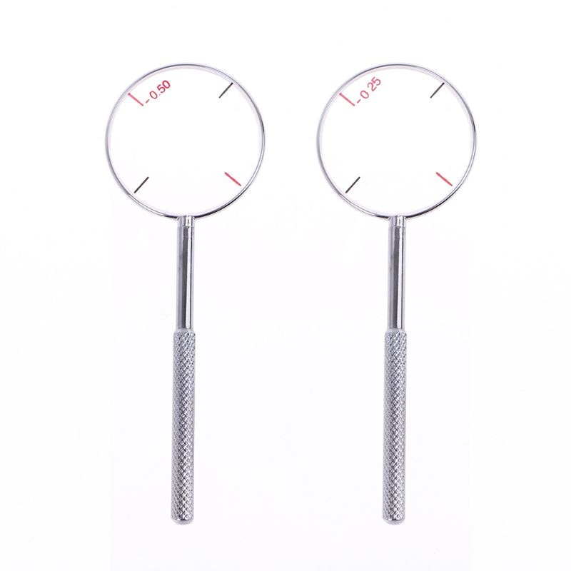 1pc Optical Cross Cylinder Lens Tool -0.25 -0.50 Optical Instruments Ophthalmic Lens Diopters Optome