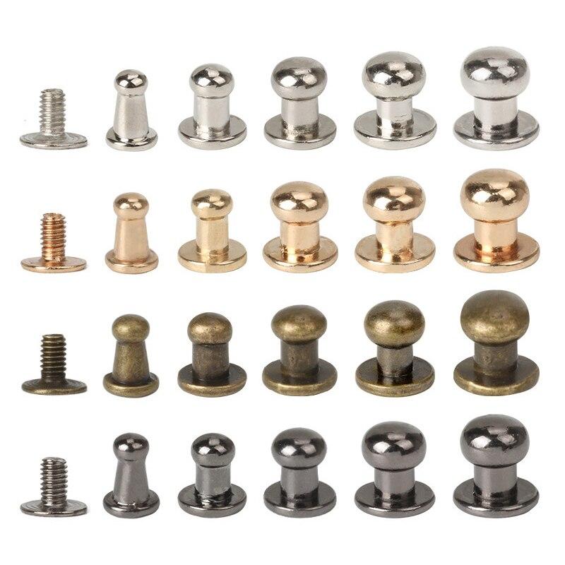 10 Pack 5 farben zink-legierung Runde Nippel Kopf Taste Stud Schrauben 4I5I6I7I8I10mm Schrauben Nagel Niet für DIY Leder Handwerk H-101