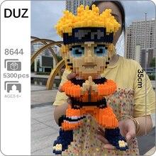 5300 pçs diy anime naruto hokage uzumaki ninja 3d modelo micro mini blocos de construção tijolo conjunto brinquedo 37cm altura nenhuma caixa