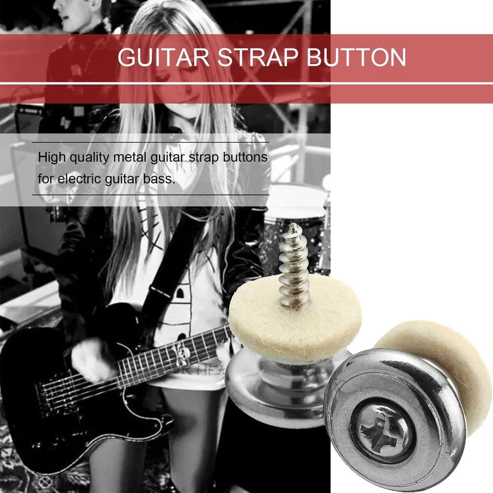 2 шт.% 2FPair гитара ремень кнопки с грибом голова гитара детали аксессуары для электро акустика гитара бас ремень пряжка