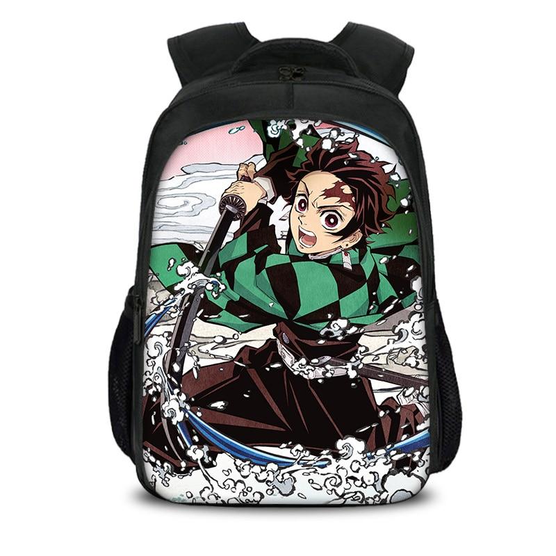 Mochila de Anime Demon Slayer para estudiantes, mochilas de escuela para niñas,...