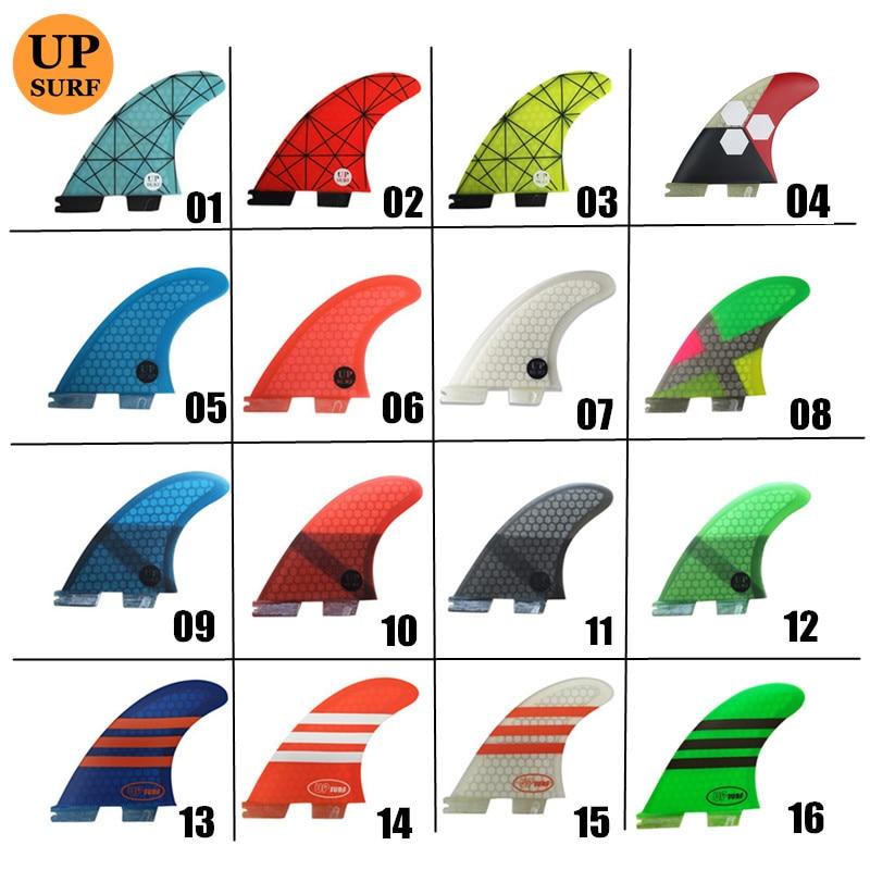 Sörf yüzgeci FCS2 G7 yüzgeçleri tri yüzgeçleri fiberglas fcsii yüzgeçleri mavi, kırmızı, sarı, siyah, orange, beyaz, yeşil renk FCS II sörf yüzgeçleri