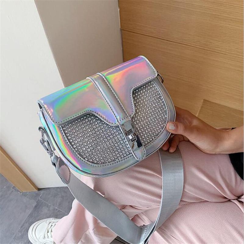 2020 women laser summer corss body bags leather Saddle shoulder bags mini bing diamond bags drop shipping MN1731
