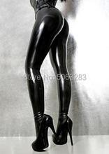 Women Latex Rubber Leggings Sexy Tights Pants No Zip minifaldas sexy elastic Pants for Females