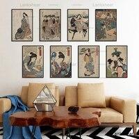 ВИНТАЖНЫЙ ПЛАКАТ в японском стиле укийое для HD картин на холсте плакаты и принты настенные картины для спальни принт Куадрос