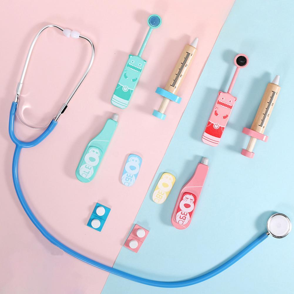 Портативный Забавный комплект для ролевых игр, деревянные стоматологические игрушки, обучающие медицинские игрушки, набор, имитация для шк...